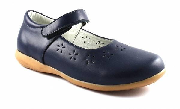 baa95fee6 33-430-3 Туфли школьные для девочки на липучке